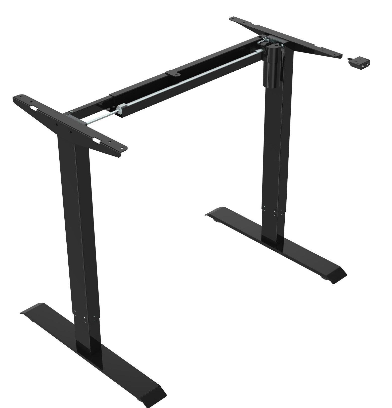 Zit-Sta frame zwart zijkant electrisch verstelbaar