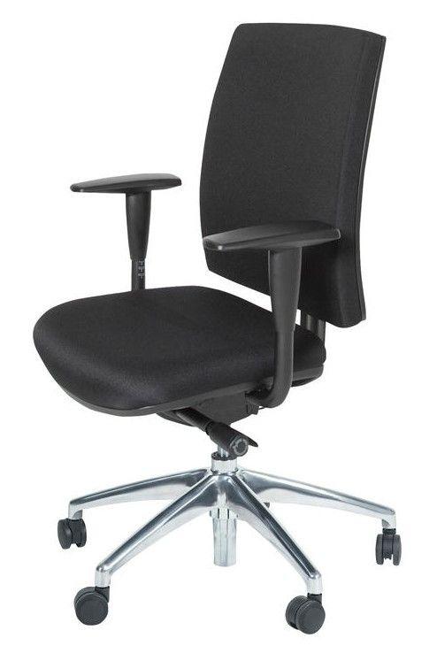 bureaustoel met verchroomd voetkruis