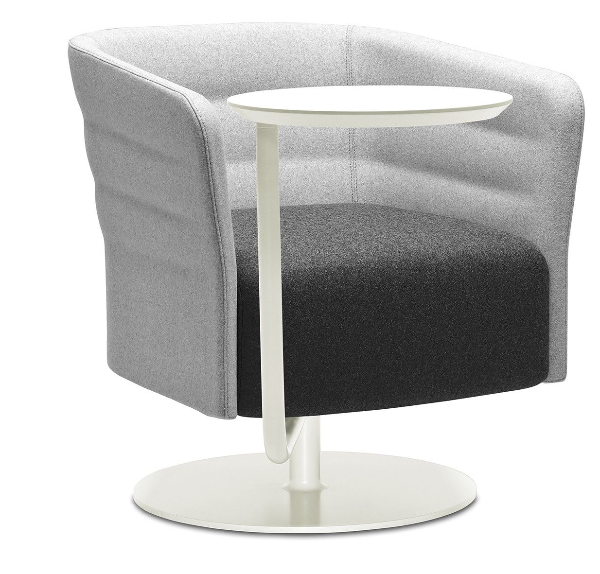 Fauteuil Cell 72 lounge met draaibare ronde witte voet