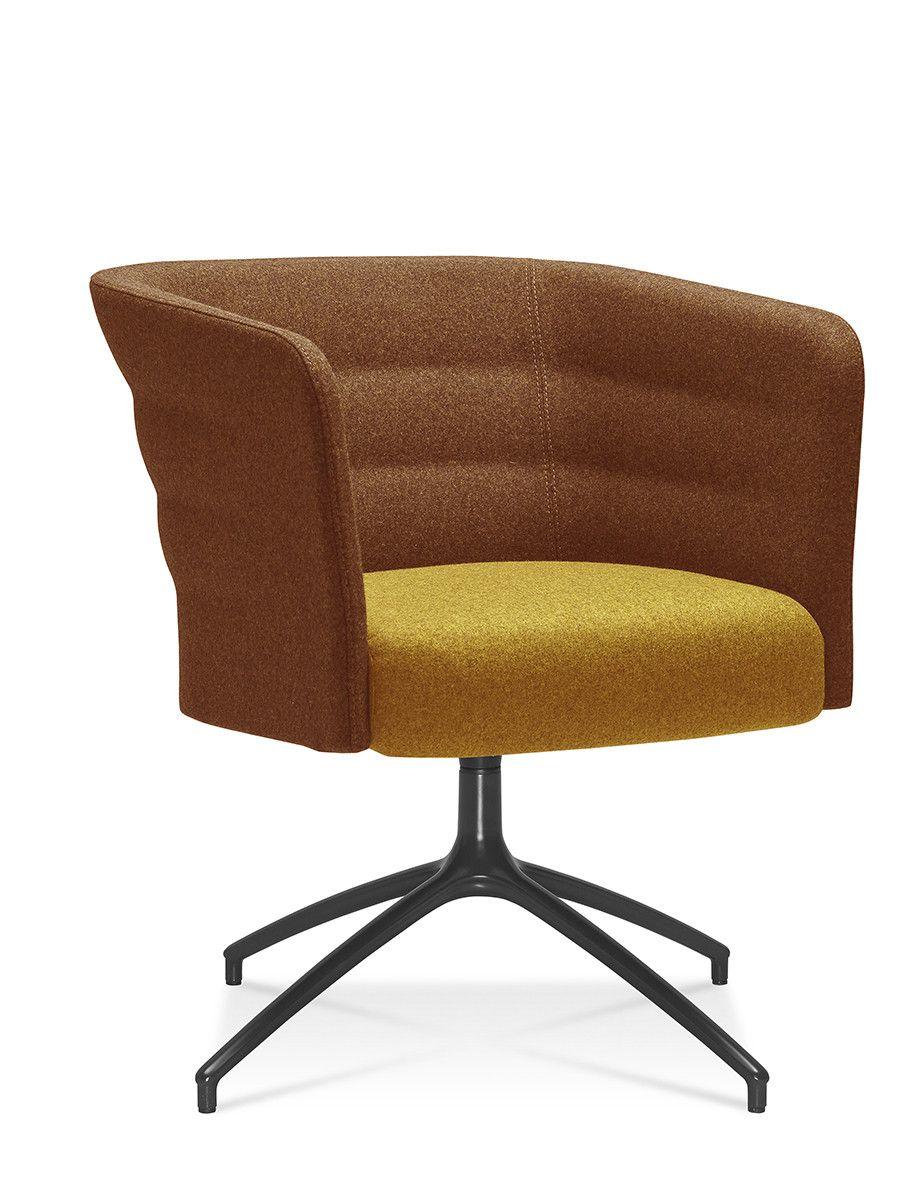 Fauteuil cell 75 lounge met draaibaar zwart 4-teens frame