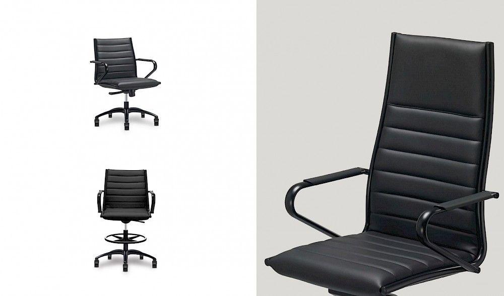 Design directiestoel Sitland Classic + zwart met chroom