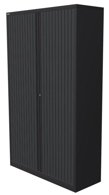 Roldeurkast 198x120x45cm Antraciet
