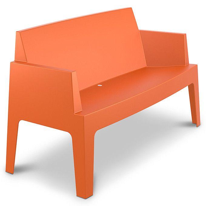 Tuinbank Box voor thuis, kantoortuin of terras Oranje