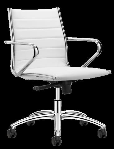 Sitland Classic Manager wit met middelhoge rug