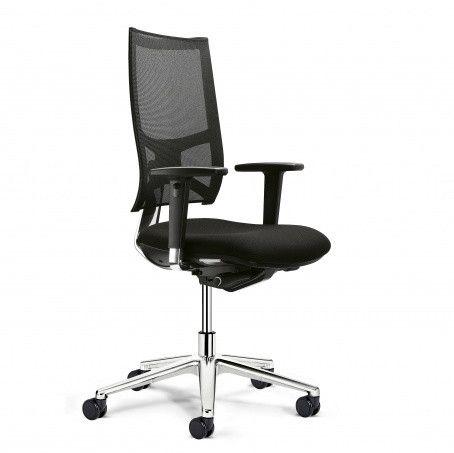 Bureaustoel met netweave rug en armleggers