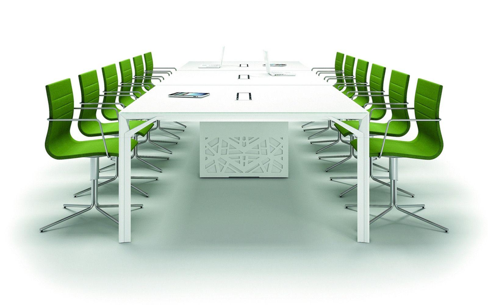 Luxe vergadertafel met 12 stoelen model X8