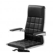 Luxe bureaustoel Veg Hit met chrome frame en armleggers