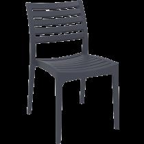 Kantinestoel en terrasstoel Ares grijs