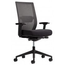 Zwarte Arbo bureaustoel ERGOM C02 met netweave rug