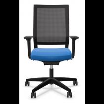 Bureaustoel Viasit Impulse blauw met netweave rug