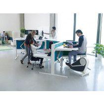 Elektrisch verstelbaar Zit-Sta bureau voor 3 personen Max Hybrid wing