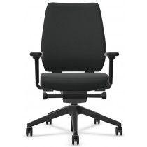 Bureaustoel Interstuhl JOYCEis3 met gestoffeerde rugleuning zwart