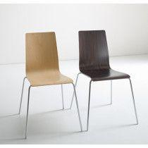 Lila vierpootsstoel met houden kuip in de kleuren natural beech en wenge