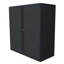 Roldeurkast 120x102x45cm Zwart