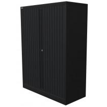 Roldeurkast 160x102x45cm Zwart