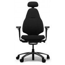 Zwarte bureaustoel RH Mereo 220 black frame voorkant
