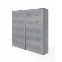 Schuifdeurkast 192x160x46cm Aluminium