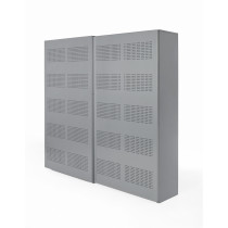 Schuifdeurkast 192x194x46cm Aluminium