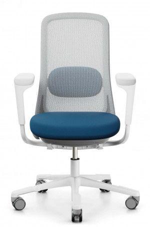 Bureaustoel HAG SoFi 7500 lichtgrijs frame stoffering blauw