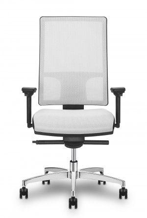 Witte bureaustoel Mesh-Line