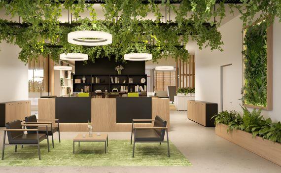 Biophilic design kantoorinrichting