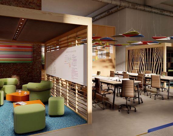 Creatieve vergaderruimte